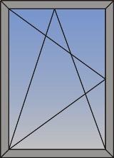 Jednokrilni okretno-nagibni (skriveno krilo)