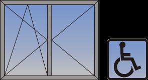 Dvokrilni okretno-nagibni prozor sa niskim pragom (skriveno krilo)