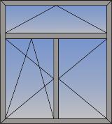 Dvokrilni okretno-nagibni prozor sa zaštitom od sunca (skriveno krilo)