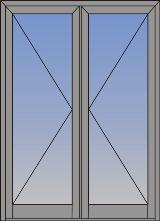 Dvokrilna vrata sa otvaranjem na unutra/spolja