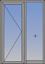 Jednokrilna vrata sa otvaranjem na unutra/spolja i fiksnim svetlarnikom