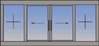 Dvokrilni horizontalno klizni prozor sa fiksnim svetlarnicima