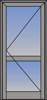 Jednokrilna ulazna vrata sa otvaranjem na unutra