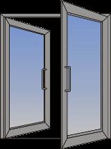 Dvokrilna klatna vrata