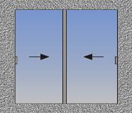 Dvokrilni horizontalno klizni prozor