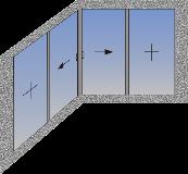 Ugaona tipologija sa horizontalno kliznim krilima