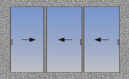 Trostruki horizontalno klizni prozor