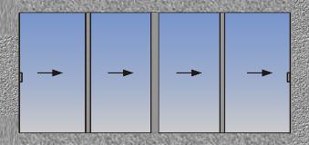 Četvorokrilni horizontalno klizni prozor