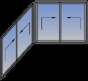 Ugaona tipologija sa horizontalno podizno-kliznim krilima