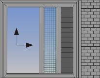 Jednokrilni podizno-klizni sistem sa džepom u zidu, komarnikom i zaštitom od sunca