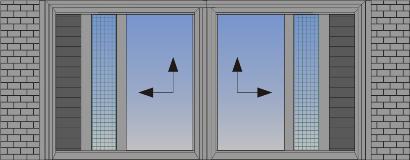 Dvokrilni podizno-klizni sistem suceono otvaranje sa džepom u zidu, komarnikom i zaštitom od sunca