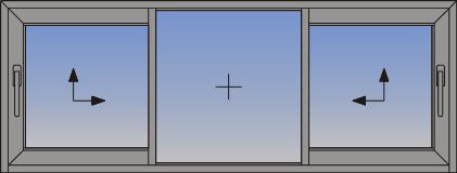 Dvokrilni podizno-klizni sistem sa fiksnim svetlarnikom