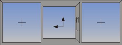 Jednokrilni podizno-klizni sistem sa fiksnim svetlarnikom