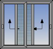 Dvokrilni podizno-klizni prozor sa komarnikom