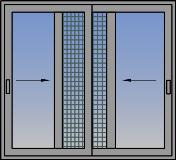Dvostruki horizontalno paralelni klizni prozor sa komarnikom