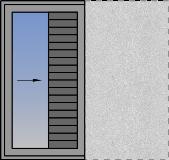 Jednokrilni horizontalno klizni prozor sa džepom sa zaštitom od sunca