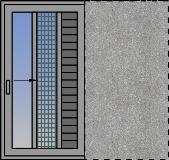 Jednokrilni horizontalno klizni prozor sa džepom, komarnikom i zaštitom od sunca