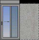 Jednokrilni klizni prozor sa komarnikom i roletnom