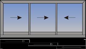 Trostruki horizontalno klizni protor