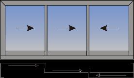 Trokrilni podizno-klizni prozor sa adapterom za gipskartonske ploce